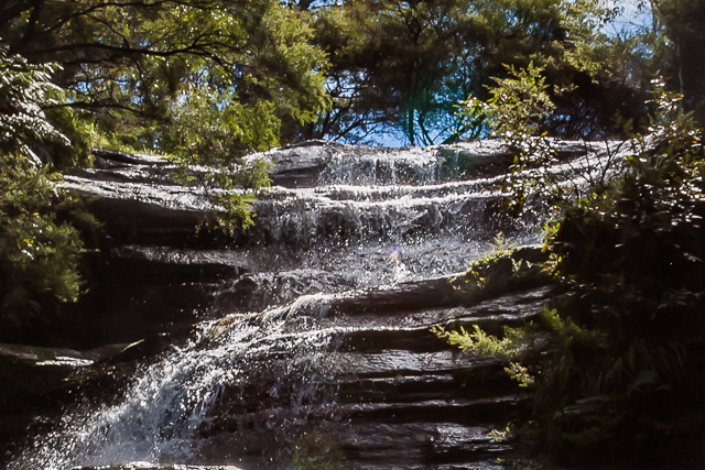 The top cascade of Katoomba Falls.