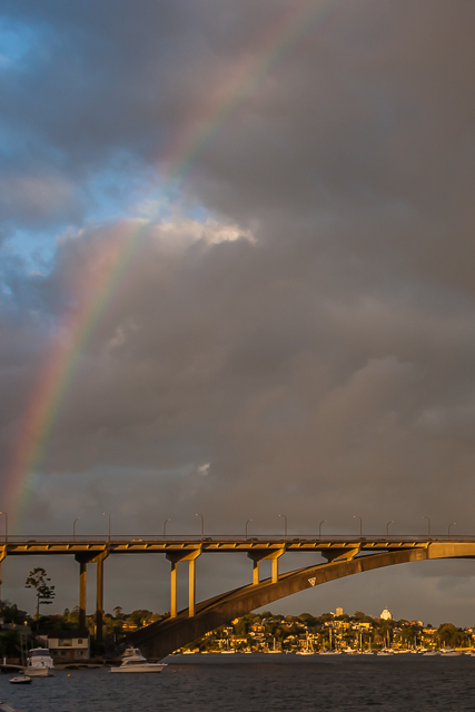 Rainbow over the Parramatta River.