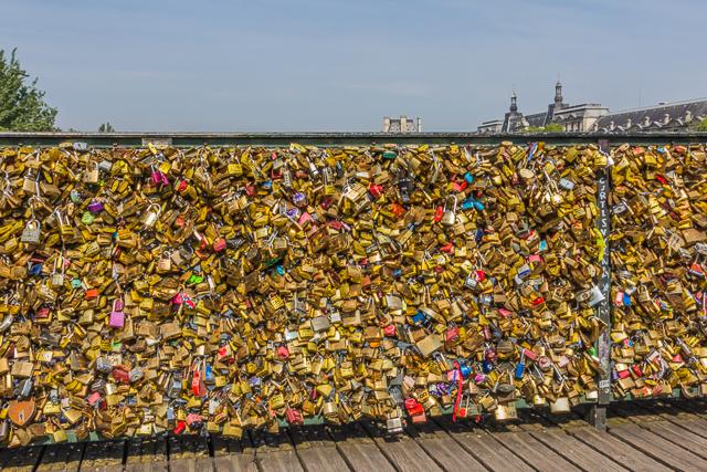 Lovelocks on the Pont des Arts.