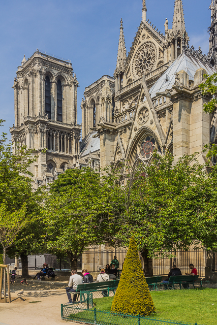 The south side of Notre Dame.