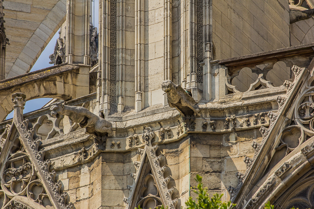Most of the gargoyles that you see today are from the mid-19th century restoration.