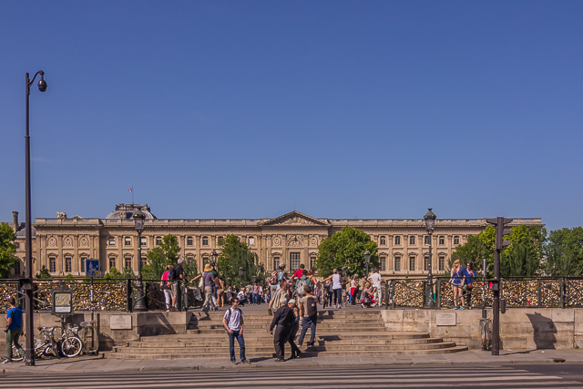 View of the Louvre and the Pont des Arts from the Institut de France.