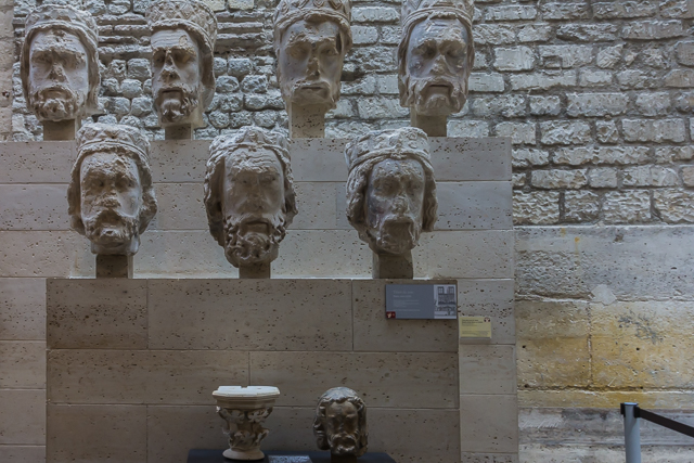 Seven of the 21 heads that were recovered in 1977.