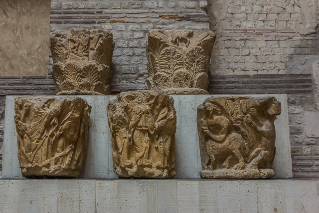 Capitals circa 1030 AD from the abbey of St Germain des Pres.