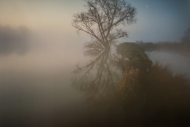 """One of the misty, mysterious photos in the exhibit entitled """"x""""."""