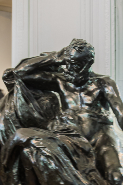 Another sculpture of Hugo by Rodin (circa 1900).