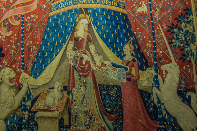 One of the famous Lady and the Unicorn tapestries.