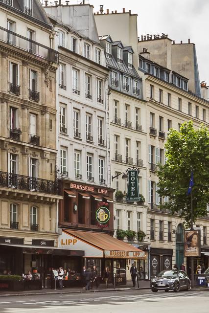 Brasserie Lipp on Boulevard Saint-Germain.