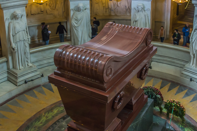 Napoleon's Tomb under the dome of Les Invalides.