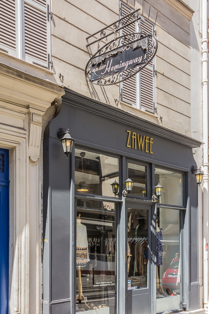 "The clothing store Zawee ""Under Hemingway."""