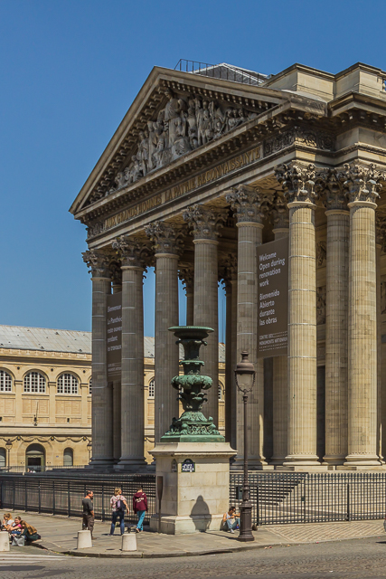 View of the Pantheon from the foot of Rue Clotaire.
