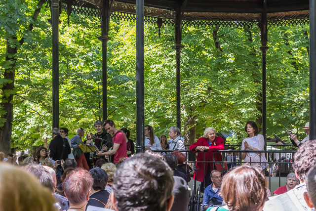 You will find music in the Luxembourg Gardens on sunny weekends.