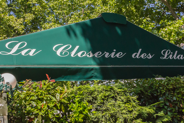La Closerie des Lilas was Hemingway's favorite cafe when he lived around the corner on Rue Notre Dame des Champs.