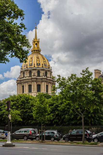 Le Dome des Invalides from Rue V near the Rodin Museum and Garden.