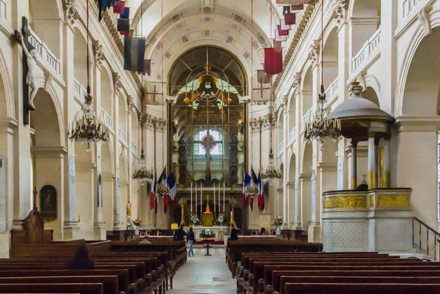 There re two chapels in Les Invalides and they are back to back. This is the Soldiers Chapel.