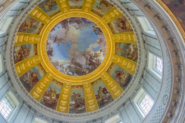 Paintings by Charles de La Fosse inside the Dome.