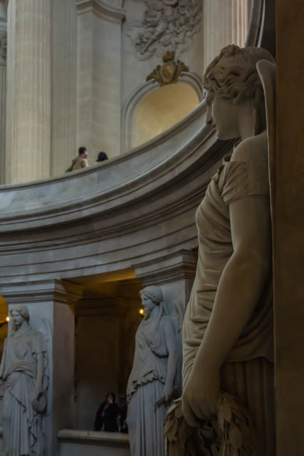 Three of twelve figures surrounding the Tomb, each one commemorating one of Napoleon's 12 major victories.