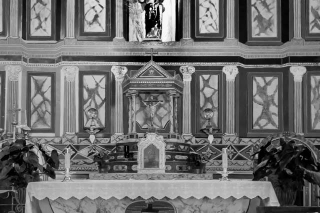 The altar at Mission Santa Ines.