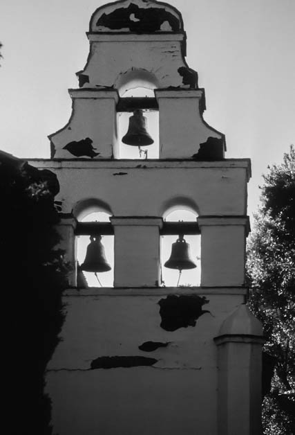 The Bell Tower was constructed in 1976. The original mission did not have a bell tower.