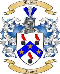 The Bolduc Family Crest.