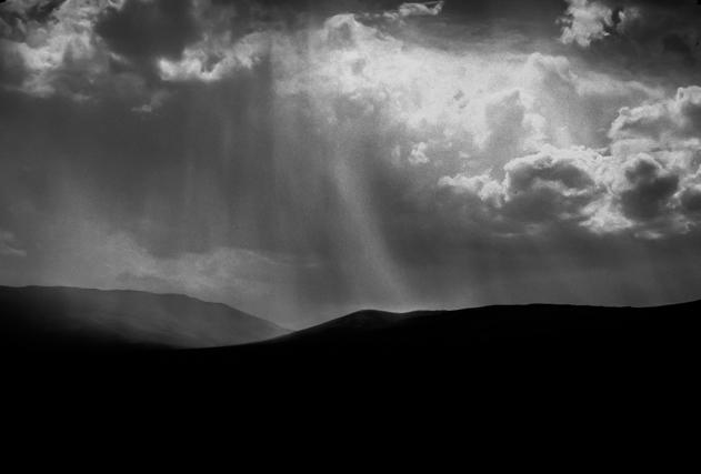 Monochrome version of Granite Pass photo.