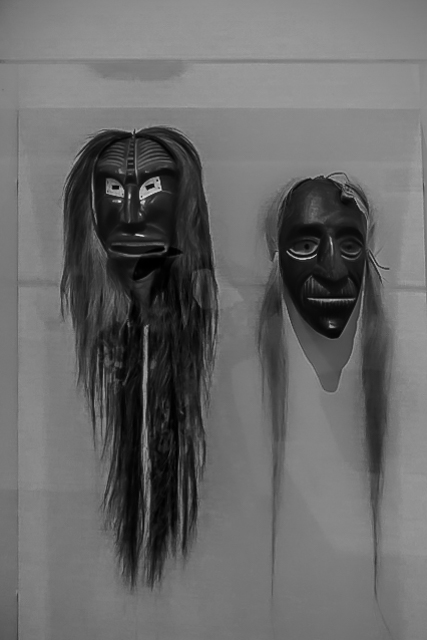 False Face Society masks of the Seneca people.
