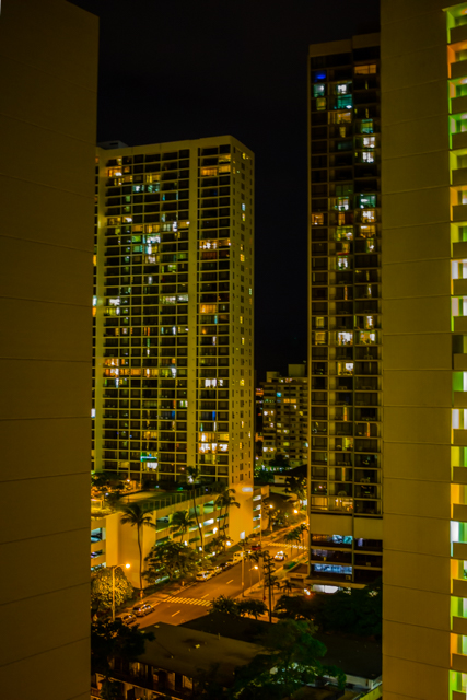 Out view at night.