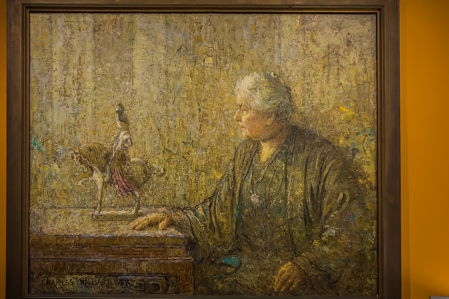 Portrait of Anna Rice Cooke by Charles W Bartlett.