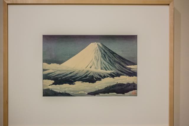 Takahashi Shotei - Hiroaki (1871-1945)            The Four Seasons of Mt Fuji:             Nearby Omuro             1929