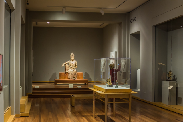 Guanyin the Bodhisvatta of Compassion in the large gallery devoted to Chinese art. The wooden statue is from the Song Dynasty and was created c. 1025.