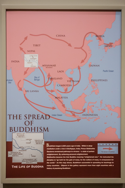 The spread of Buddhism throughout Asia.