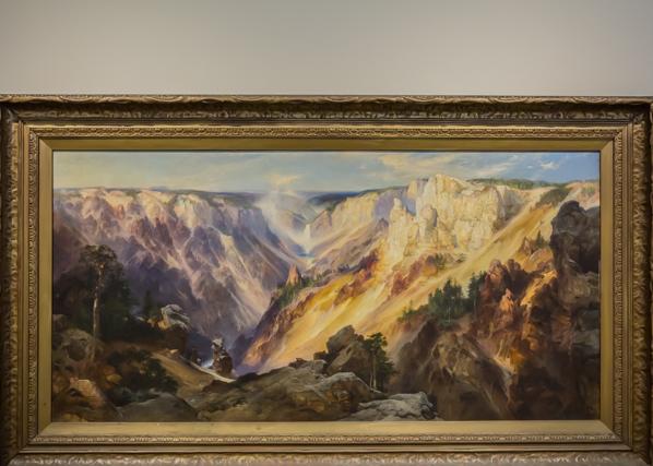 Thomas Moran's Yellowstone Falls in the small America gallery.