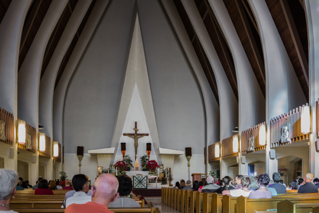 View of the altar from my pew.