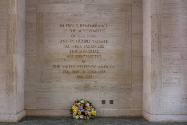 Inscription near the Memorial Chapel.