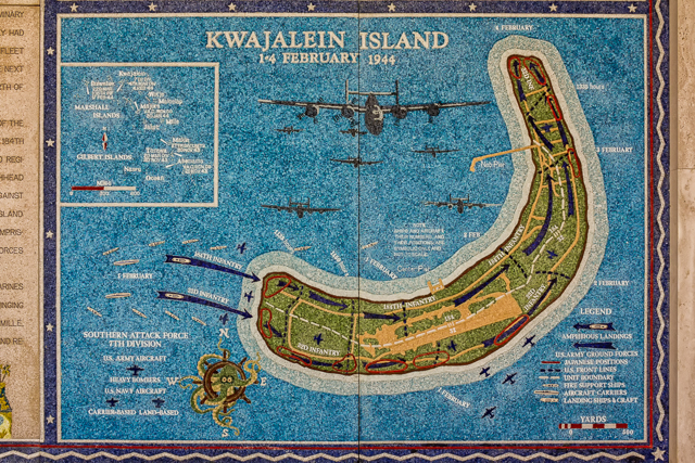 The Battle of Kwajalein in the Marshall Islands.
