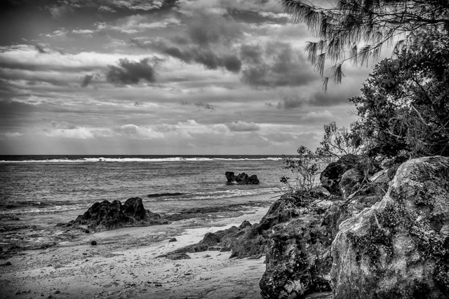 Tarague Beach on the north coast of Guam.
