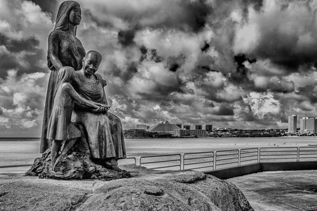 The Women of the Island -- Three Generations.  Sculpture by Roberta Giovannini from a drawing by Ronald Castro.