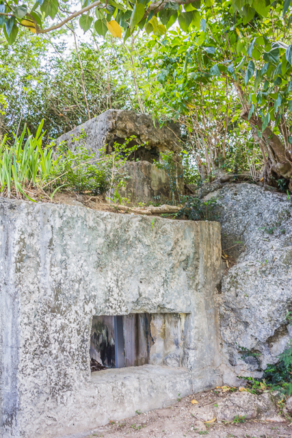 Observation post on top of pill box at Ga'an Point.