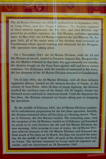 Brief history of the US Marines 3rd Division.