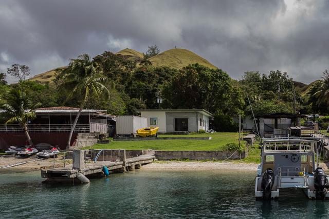 Leaving Merizo on the ferry to Cocos Island.