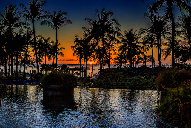 Tumon Sunset. From the Outrigger Hotel's infinity pool.