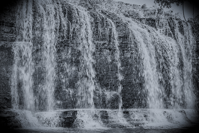 Talofofo Falls. This is my entry this week to Leanne Cole's Monochrome Madness Challenge.