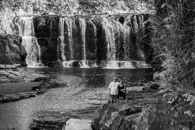Another shot of the falls with my daughter and her husband providing a sense of scale.