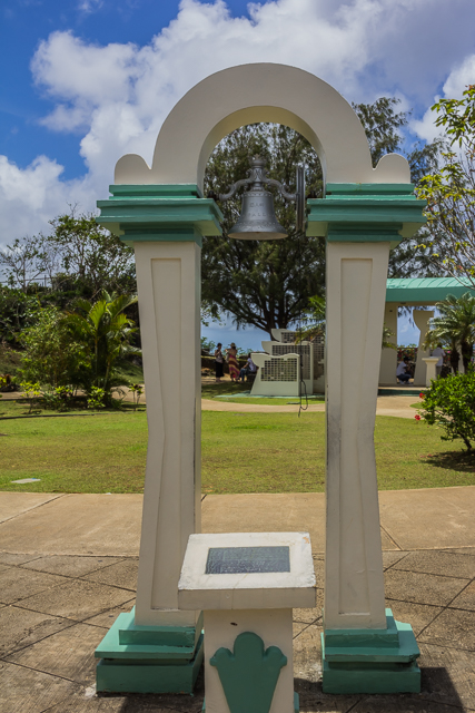 The Love Bell is a gift from the citizens of Izu, Japan to the people of Guam.