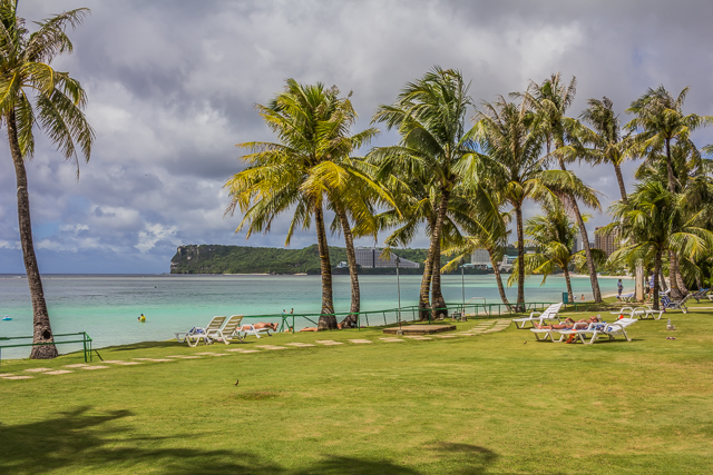 View of the northern tip of Tumon Bay from the Fiesta Resort.