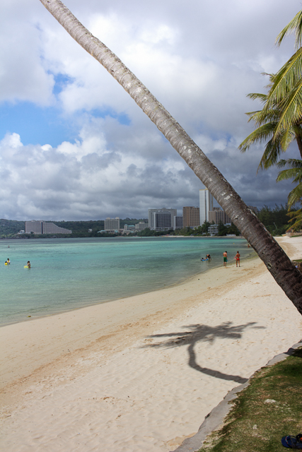 Another view of Tumon Bay and the beach at the Fiesta Resort.