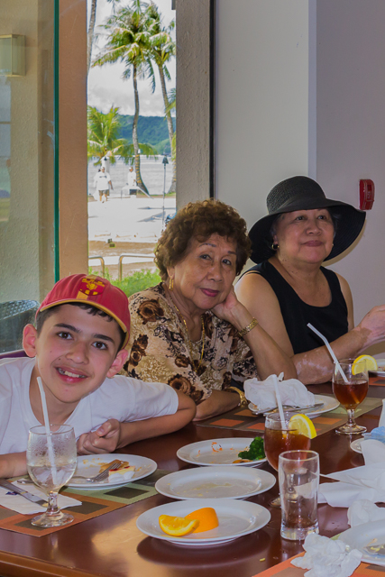 My grandson, sister-in-law and wife enjoyed the buffet at the Fiesta's World Cafe.