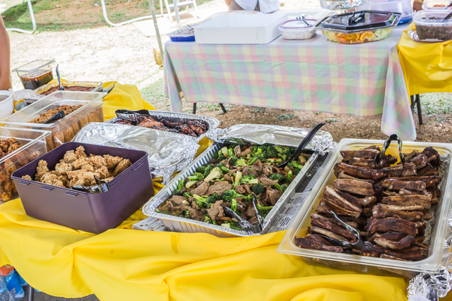 Chicken, beef broccoli, spare ribs. Guamanians love to eat meat!