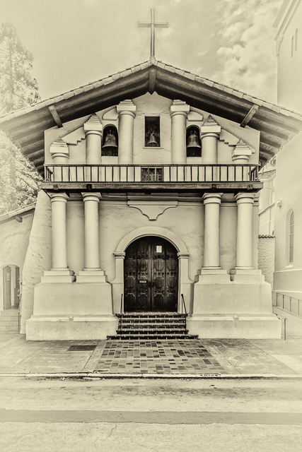 Mission San Francisco de Asis is more commonly known as Mission Dolores. This is my entry for Leanne Cole's MM 2-23 Monochrome Madness Challenge.