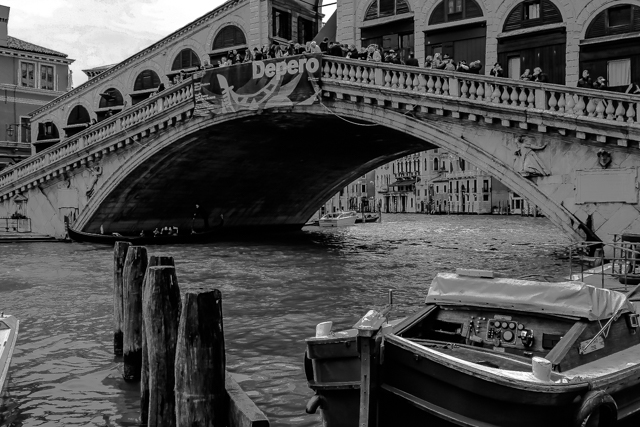 The Rialto Bridge over the Grand Canal in Venice was completed in 1591.